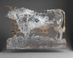 Bull Weathervane Folk Art Archive Robert Young Antiques