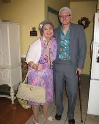 Grandma Grandpa Halloween Costumes Harrison Ford Callista Flockhart Halloween Nerd