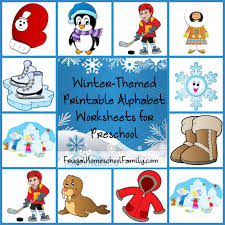 winter themed printable alphabet worksheets for preschool