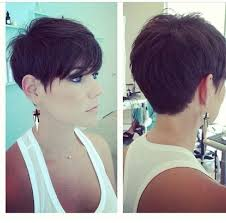 front and back pictures of short hairstyles for gray hair short pixie haircuts front and back view hair