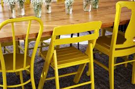 Yellow Kitchen Table And Chairs - nesting yellow painted chairs u2013 a beautiful mess