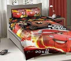 Disney Cars Bedroom Set by Amazon Com Disney Cars Blazin U0027 Speed Full Size Bedding Set Home