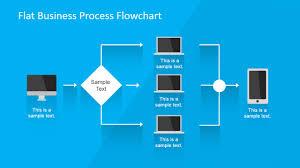 flat business process flowchart for powerpoint slidemodel