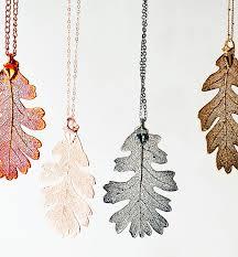 long leaf necklace images Large lacey oak real leaf necklace by grace valour jpg