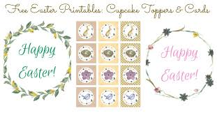 free easter printables toppers u0026 cards