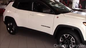 compass jeep white the all new 2017 jeep compass trailhawk ontario chrysler youtube