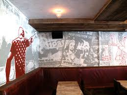 durden bar custom mural collage graffiti artist for hire nyc graffiti artist for hire custom mural graffiti portrait