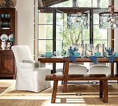 Pottery Barn Dining Room Furniture Benchwright Dining Bench Pottery Barn