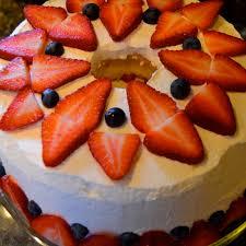 Angel Decorated Cake Strawberry Angel Food Cake For My Baby U0027s Birthday After Orange