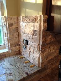 Stacked Stone Around Fireplace by Stacked Stone Corners