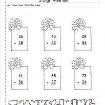 2nd grade math word problems 2nd grade thanksgiving worksheets