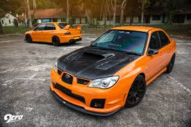 orange subaru impreza subaru wrx sti u0026 mitsubishi evolution 9 the orange revolution 9tro