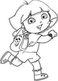 nice dora cartoon coloring pages wecoloringpage pinterest