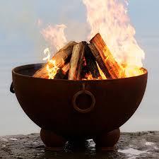 Firepit Wood Wood Burning Pits Woodlanddirect Outdoor Fireplace
