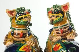 foo lions for sale ceramic foo dogs fu lion set pair foshan 10 foo dog and