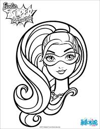 coloriage du portrait de barbie super princesse avec son masque et
