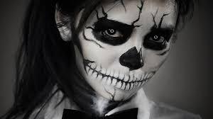 sugar skull makeup black white