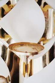 gold hanging candelabra pendant light hollywood regency 1950s