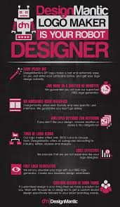 designmantic download logo maker is your robot designer infographic