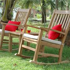 Patio Rocking Chair Teak Palm 2 Person Teak Patio Rocking Chair Set