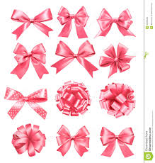 big set of pink gift bows and ribbons stock images image 34663094