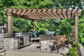 Green Egg Kitchen - green egg outdoor kitchen patio traditional with my houzz