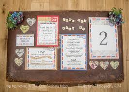 free printable vintage style airmail table plan and escort cards