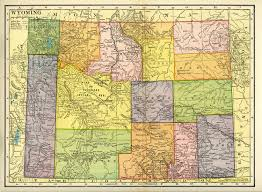 County Map Of Colorado by Wyoming Homesteading Wyoming Historical Maps