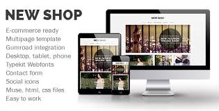 20 best ecommerce adobe muse templates tutorial zone