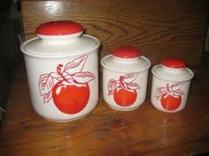 perfect for my red black and chrome kitchen retro metal apple