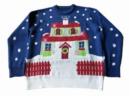 sweater house light up house with many lights funqigifts com