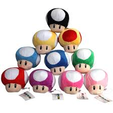 10pcs lot super mario bros mushroom toad plush soft doll cute