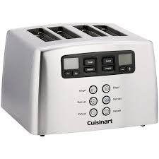 Sports Toasters Cuisinart Countdown Lever Less 4 Slice Toaster Walmart Com