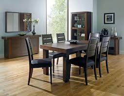 walnut dining sets walnut dining tables chairs bentley designs akita walnut 4 6 end extending dining table