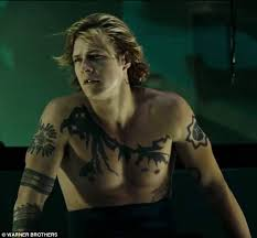 shirtless luke bracey reveals full body tattoos in the second