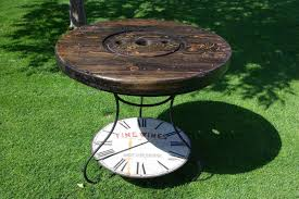Wire Spool Table Reclaimed Rustics Wire Spool Kitchen Patio Table