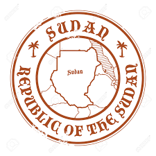 Map Of Sudan Grunge Rubber Stamp With The Name And Map Of Sudan Royalty Free