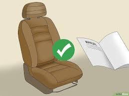 comment detacher un siege de voiture comment nettoyer des sièges de voiture en cuir