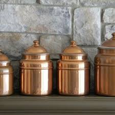 copper canisters kitchen best decorative canisters products on wanelo brass and copper