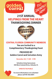 golden corral hosts 21st annual u201chelpings from the heart