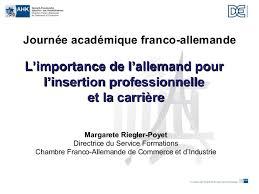 chambre de commerce franco allemande madame riegler poyer de la chambre franco allemande de commerce et d