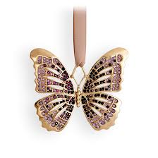 l objet butterfly ornament gold amethyst crystals l objet