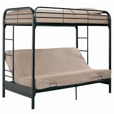 metal bunk bed with futon for teenager installation a metal bunk