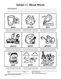 speech therapy with miss nicole l blend words