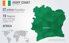 africa map ivory coast côte d ivoire s economy among africa s top 10 graphic