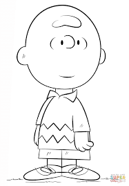 charlie brown coloring page free printable coloring pages