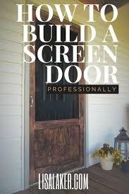 the 25 best wood screen door ideas on pinterest fly screen