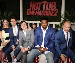 Hot Tub Time Machine Meme - chris pratt attends hot tub time machine 2 premiere to support adam