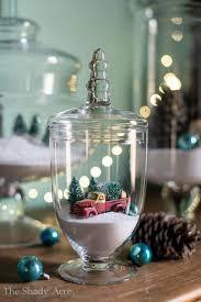 idee village de noel 20 décorations de noël à faire avec des accessoires de verre c