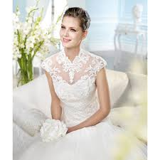 wedding dresses high lace and tulle sleeve high collar mermaid wedding dress